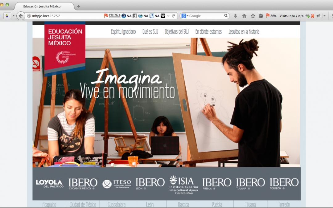 Landing Page Sistema Universitario Jesuita